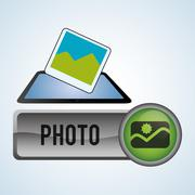 Security System design. Protection icon. Isolated illustration, vector - stock illustration