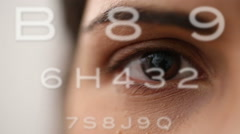 Eye test from board pov Stock Footage