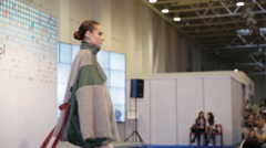Model goes on the catwalk - stock footage
