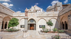 The Church of the Nativity of Jesus Christ timelapse hyperlapse. Palestin. The - stock footage