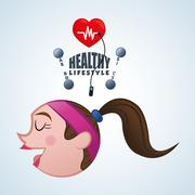 Healthy lifestyle design. Bodycare icon. Isolated illustration, vector graphic Stock Illustration