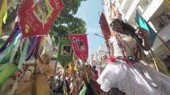Street Carnival of Rio de Janeiro # 40 (Slow Motion) Stock Footage