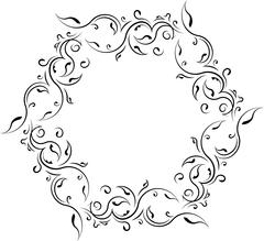 Unusual lace floral frame, decorative element with empty place for your text. - stock illustration