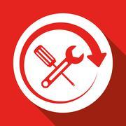tools icon design, vector illustration - stock illustration