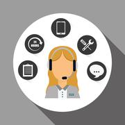 Technical service and call center icon design, vector illustration Stock Illustration