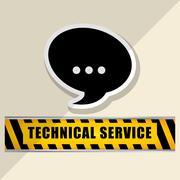 technical service and call center icon design, vector illustration - stock illustration