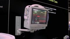 Cardiac monitor EKG - stock footage