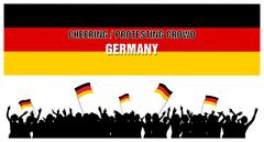 Cheering or Protesting Crowd Germany Stock Illustration