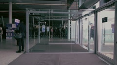 Entrance of the modern business city office building. - stock footage