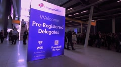 Euroanaesthesia 2016 welcome - stock footage
