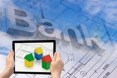 The mortgage construction concept Stock Photos