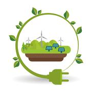 Eco plug design , vector illustration Stock Illustration