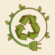 eco plug design , vector illustration - stock illustration