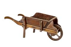 Garden hand wooden wheel barrow Stock Photos