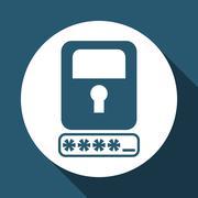 Security system design , vector illustration Stock Illustration