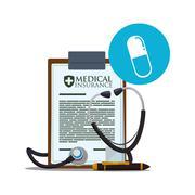 Medical care design. Health care icon. White background, isolate Stock Illustration