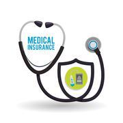 Medical care design. Health care icon. White background, isolate - stock illustration