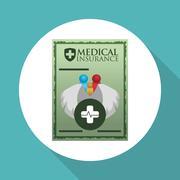 Medical care design. Health care icon. White background, vector - stock illustration