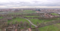 MILAN // Skyline & Rush Hour Traffic // Aerial Footage - Riprese Aeree // 4K Stock Footage