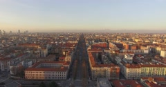 MILAN // Italian Boulevard & Skyline // Aerial Footage - Riprese Aeree // 4K Stock Footage