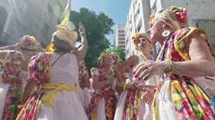 Street Carnival of Rio de Janeiro # 39 (Slow Motion) Stock Footage