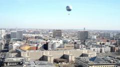 Balloon and Cityscape around the Potsdamer Platz. high a - stock footage