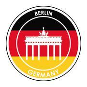Germany design. Culture icon. Flat illustration, vector graphic - stock illustration