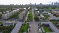 Aerial video Hallandale condominiums Stock Footage