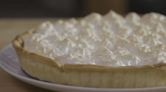 Lemon meringue pie Stock Footage