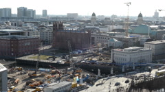 Rebuilding of the town palace at Berlin cent Stock Footage