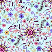 Abstract Floral Seamless Background - stock illustration