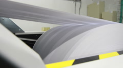 Paper publishing machine Stock Footage