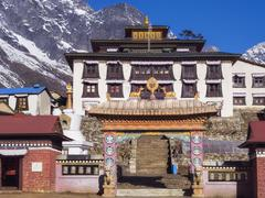 Tengboche Monastery on the Way to Everest Base Camp, Nepal - stock photo