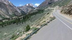Drone over Sierra Nevadas near Yosemite Stock Footage