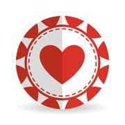 casino chips design , vector illustration - stock illustration