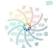 Outline infographic element Stock Illustration