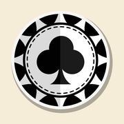 Casino chips design , vector illustration Stock Illustration