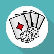 Casino  dice design , vector illustration Stock Illustration