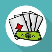 casino  cards design , vector illustration - stock illustration