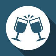 drinks  icon design , vector illustration - stock illustration
