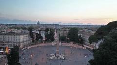Piazza del Popolo, Rome Stock Footage