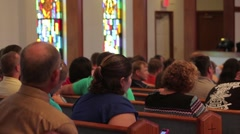 People Sitting In Church Service Stock Footage