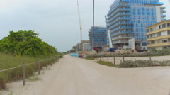 The Surfclub construction site Stock Footage