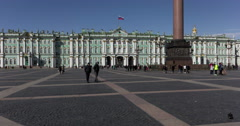 St. Petersburg Palace Square time lapse Stock Footage