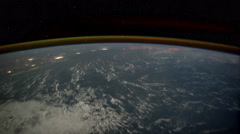 Aerial shot of planet earth in space from ISS. Time lapse 4k.NASA. Stock Footage