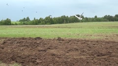 Ploughed field Stock Footage