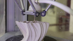 3D printers in action Stock Footage