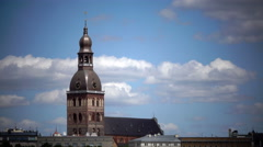Evangelical Lutheran Riga Dome Cathedral. Riga, Latvia Stock Footage