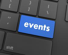 Events button Stock Illustration