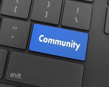Community Stock Illustration